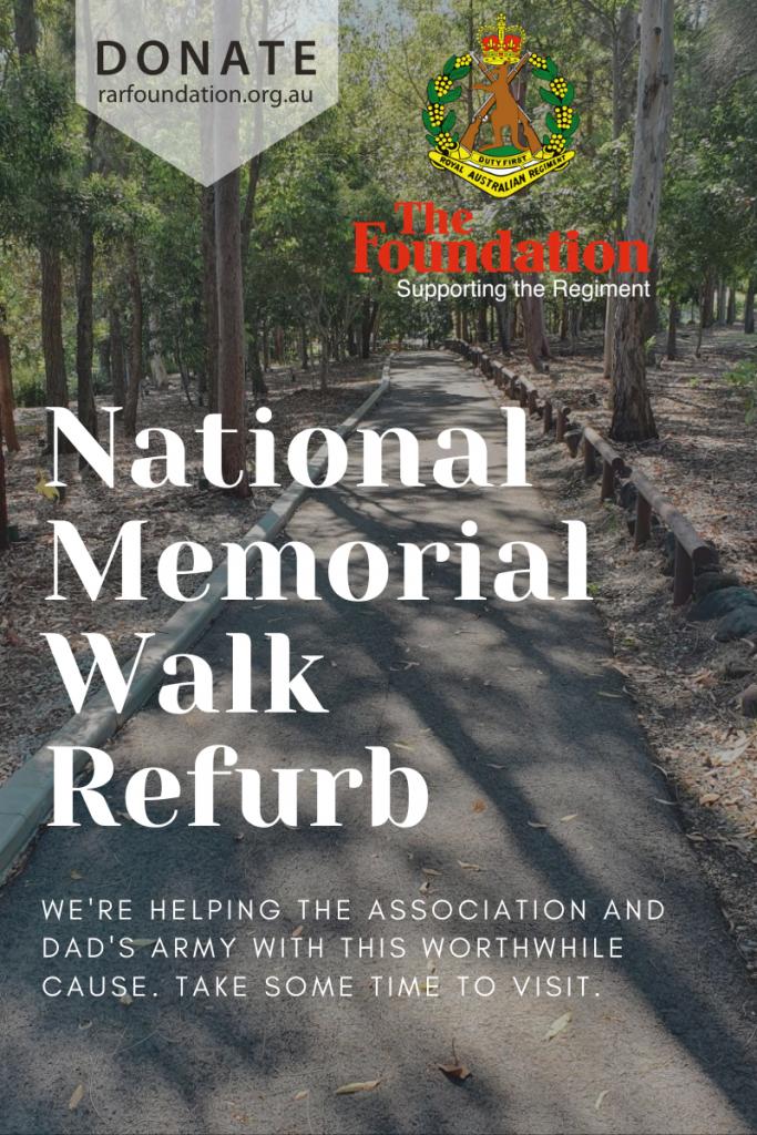 National Memorial Walk Refurb